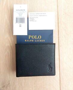 Polo Ralph Lauren Black Leather Wallet For Men Mens 405526310003