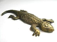 Poids Baoulé Akan salamandre / geko - artisanat africain - bronze