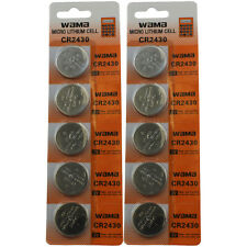 10 CR2430 CR 2430 DL2430 LITHIUM COIN CELL BATTERY FAST USA SHIP RETAIL CARDS
