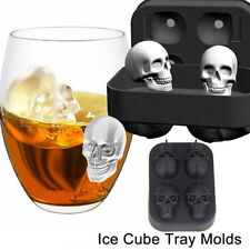 3D Skull Shape Ice Cube Mold Maker Bar Party Kitchen Tools Trays Chocolate Mould