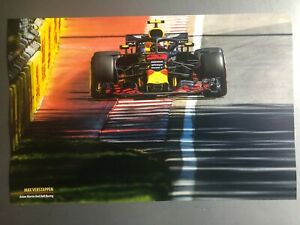 2019 Max Verstappen Aston Martin Red Bull Racing Print Picture Poster RARE