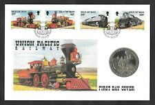 1992 Isle of Man Union Pacific Railway crown coin PNC commemorative cover.