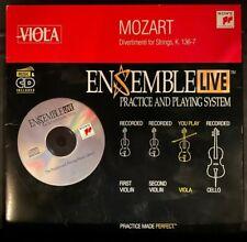 Viola: Ensemble Live Mozart Divertimenti K. 136-7 Cd with Sheet Music