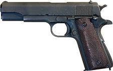 Lámina-Colt M1911 Revolver Pistola (Foto Afiche De La Policía Militar Arte)