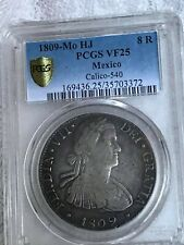 MEXICO 8 R  1809  HJ FERNANDO VII  CERTIFICATE VF25