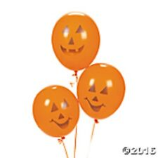 "24 HALLOWEEN Haunted House Party Decorations 11"" Jack o'Lantern Latex BALLOONS"
