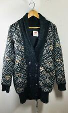 LINE Gray Multi Print Long Cardigan Sweater Size Small