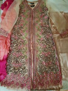 Mona Ally's Designer Stitched Detail Heavy Embroidery Shalwar Kamiz Dupata Suit