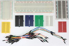 Solderless Prototype PCB Breadboards, Jumper Leads Various Colours 1,2 Packs