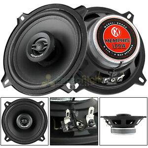 """2 Memphis Audio 5.25"""" 2 Way Coaxial Speakers 50 Watts Max Street Reference SRX52"""
