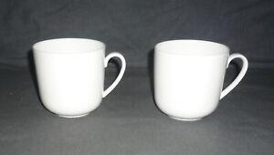 2 große Kaffeebecher, DIBBERN FINE BONE CHINA weiß