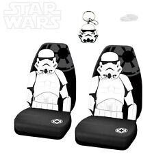 3PC STAR WARS STORMTROOPER CAR SEAT COVER WITH KEYCHAIN SET FOR SUBARU
