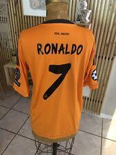 6c4bc517c Authentic Real Madrid Ronaldo Orange 2013 2014 UEFA Jersey Camiseta Shirt XL