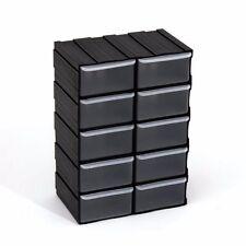 50 Schubladen Kleinteilemagazine Stapelboxen schwarz Aufbewahrung