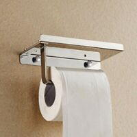 Toilet Paper Holder with Mobile Phone Wall Mounted Rack bathroom paper storage