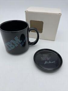 Vintage 1988 IBM AS/400 Coffee Mug Steve Schwartz Black With Coaster NIB