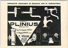 53181  - CARTOLINA d'Epoca PUBBLICITARIA - MILANO - RUBINETTI PLINIUS