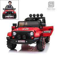 Jeep Style 12V Electric Kids Ride On Car w/ Remote control, Facelift Grille -Red