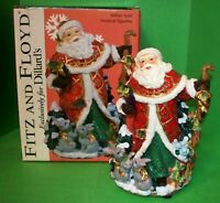 RARE Fitz and Floyd EXCLUSIVE FATHER NOEL Santa Claus Musical Figurine w/ Box
