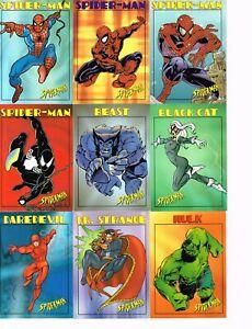 1997 FLEER/SKYBOX SPIDER-MAN TRADING CARDS SET (50) B1