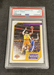 2019 Panini Chronicles Lebron James #86 Threads Pink Parallel PSA 9 Lakers