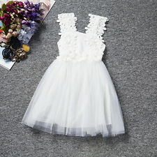 Baby Kids Girls Summer Dress Party Princess Sundress Long Tops Clothes 1-7 Years