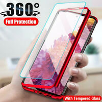 360° Full Body Shockproof Hard Case + Tempered Glass For Samsung Galaxy S20 FE