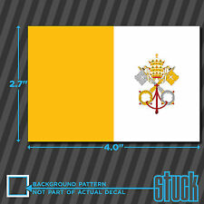 """Vatican City Flag - 4"""" x 2.7"""" - vinyl decal sticker self adhesive Holy See"""