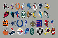 Complete Set of 32 NFL Team Primary Logos Vinyl Decal Sticker Car Window Wall