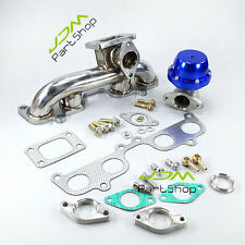 Stainless Turbo T3 Manifold Header + F38 38mm Wastegate for Toyota 2RZ-FE 3RZ-FE