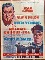 Plakat Melodie Aus Keller - Henri Verneuil Jean Gabin Alain Delon 120x160cm