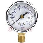 1/4' 200 PSI Compressor Compressed Air Pressure Gauge Side Mount 2' Face