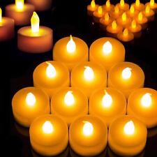 Creative LED Candle Flickering Tea Light Battery Valentine Wedding Home Decor UK