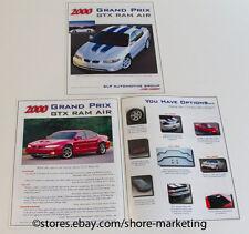 Original NEW 2000 SLP Pontiac Grand Prix GTX Ram Air Dealer Brochure - NEW