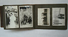 Antique Leather Photo Album Oceania 1934 Blazonry Crown with 53 real pictures