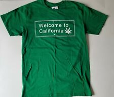 NEW FifthSun Welcom to California Funny T-Shirt Tee  Medium Green.