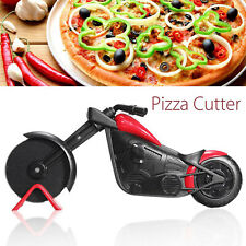 Stainless Steel Motorcycle Pizza Cutter Wheel Cake Slicer Kitchen Gadget Tool
