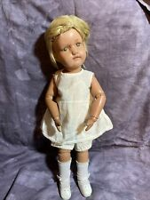 Antique Schoenhut Doll, Girl, January 17 1911 Wooden Hand Painted Doll 15""