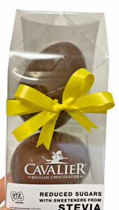 Cavalier Belgian Milk Chocolate Easter Egg Twin Pack - Ideal for Diabetics
