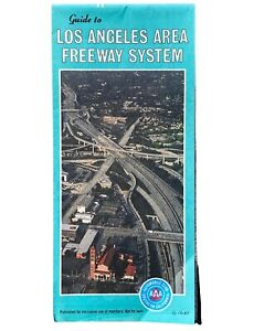 Vintage Los Angeles Freeway System AAA Southern California 1987