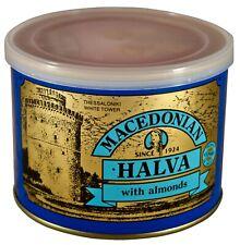 Grec macédonien Halva aux amandes, poids net 500 g, tin can.