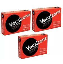 3x Vocalzone S - 24 Garganta Pastillas Ayuda Keep A Transparente VOICE