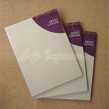Set of 3 30 x 40 cm Artist White Blank Wall Art Canvas 4 Oil Acrylic Alkyd Paint