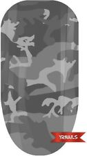 Nail WRAPS Nail Art Water Transfers Decals - Grey Army Camouflage - W041