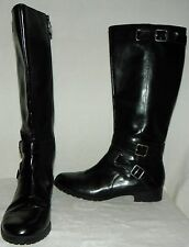 Chaps Camara Black Zip Riding Equestrian Style Boots Women's Size 9.5B New