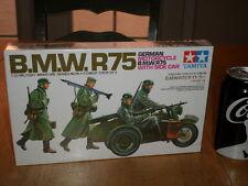 WW#2, GERMAN MOTORCYCLE - B.M.W. R75 WITH SIDE CAR, Plastic Model Kit,Scale:1/35