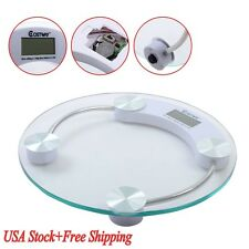 396lb Round Digital Personal Bathroom Body Weight Heath Fitness LCD Scale US