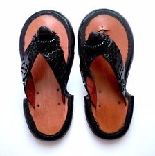 Men's Traditional Ghanaian Slippers Handmade Leather Slippers Gye Nyame Sandals
