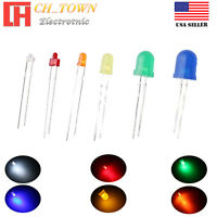 1.8mm 2mm 3mm 5mm 8mm 10mm LED Diffused White Red Blue Lights Emitting Diodes US