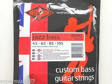 Rotosound RS77EL Jazz Bass Guitar Strings Monel Flatwound X/Long Scale Std Gauge